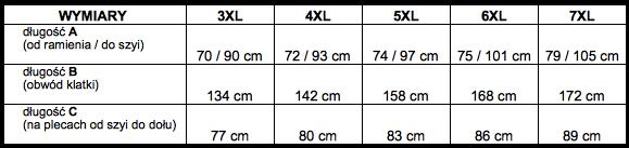 tabela wymiarów bluza Tony Montana
