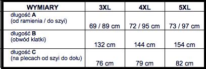 tabela wymiarów bluza McManaman