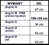 tabela wymiarów bokserki