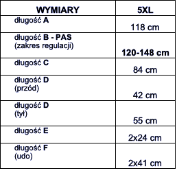 tabela wymiarów dresy McManaman