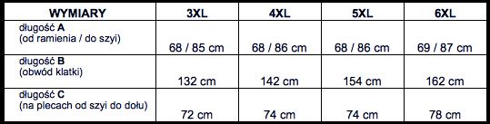 tabela wymiarów dresy DRESSLER