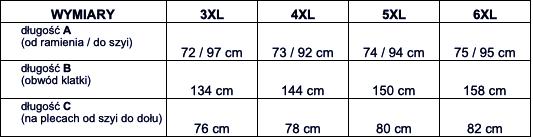 tabela wymiarów dresy Sporium Life