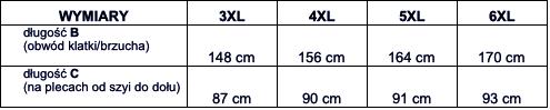 tabela wymiarów koszulka polo North56'4