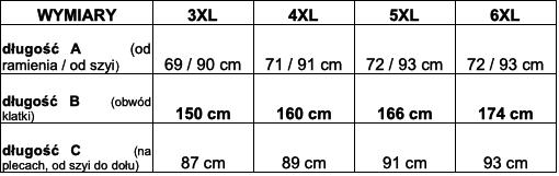 tabela wymiarów koszula Viking