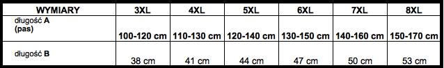 tabela wymiarów majtki ADAMO