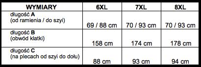 tabela wymiarów sweter North56'4