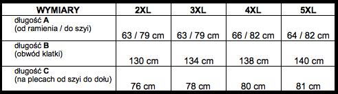tabela wymiarów sweter McManaman