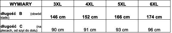 tabela wymiarów t-shirt DUKE