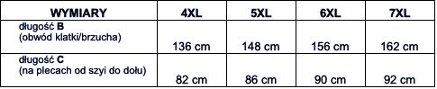 tabela wymiarów t-shirt VIKING