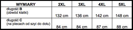 tabela wymiarów t-shirt McManaman