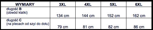 tabela wymiarów t-shirt NORTH56'4